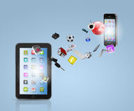 Modern communication technology royalty free stock image