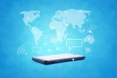 Modern communication technology illustration with Stock Photos