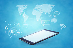 Modern communication technology illustration with Stock Photography