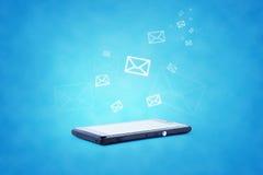 Modern communication technology illustration with Stock Photo