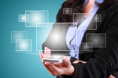 Modern communication technology mobile phone Stock Photography