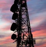 Modern communication tower Stock Photo