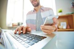 Modern communication Royalty Free Stock Photography