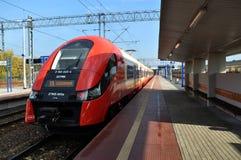 Modern commuter train Stock Photos