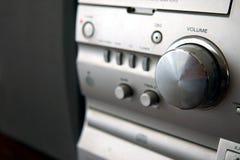 Modern compact audiorack met volumecontrole royalty-vrije stock foto's