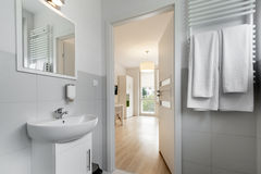 Modern, compact bathroom Royalty Free Stock Images