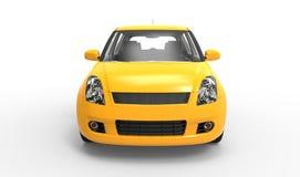 Modern Compact Car Yellow Stock Photo