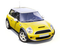 Modern compact city car Stock Images