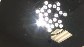 Operating table illumination.