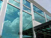 Modern Company Building. With the sky reflecting in the facade Stock Photography