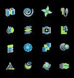 Modern company logo collection 2. Vector illustration of 16 different slick modern company logo designs. Set 2 Royalty Free Stock Photo