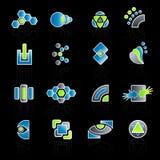 Modern company logo collection. Vector illustration of 16 different slick modern company logo designs Stock Photos