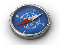 Modern compass. Isolated modern compass on white bachground Royalty Free Stock Photos