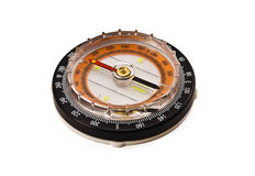 The modern compass. The modern compass on the white background stock image