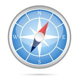 Modern compass icon Stock Photography