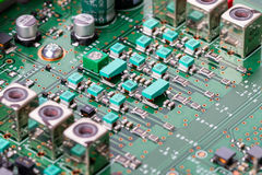 Modern components on the electronic board Royalty Free Stock Image
