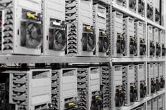 Modern computer cases in a data center Stock Photos
