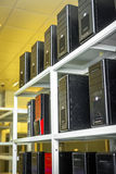Modern computer cases in a data center Stock Photography