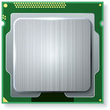 Modern computer core processing unit (CPU) Stock Photography