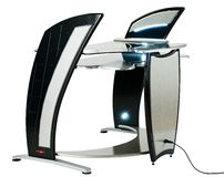 Modern computer desk or workstation Royalty Free Stock Photo