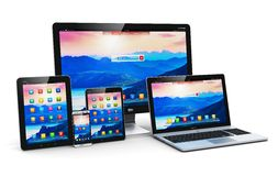 Modern computer devices Stock Images