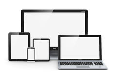 Modern computer devices Stock Image
