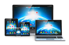 Modern computer devices Royalty Free Stock Photography
