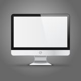 Modern computer display with blank screen isolated Royalty Free Stock Images
