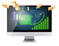 Modern computer display Royalty Free Stock Photography