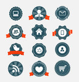 Modern computer icons Stock Image