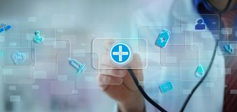 Modern computer  interface medicine Royalty Free Stock Images