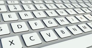 Free Modern Computer Keyboard Royalty Free Stock Images - 25380009