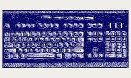 Modern computer keyboard Stock Photo