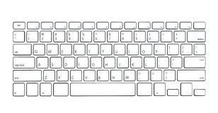 Modern computer keyboard Royalty Free Stock Photo