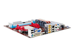 Modern computer mainboard Royalty Free Stock Photography