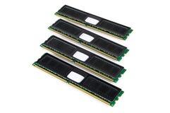Modern computer memory modules with black radiator Royalty Free Stock Photos