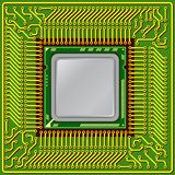 Modern computer is the processor on a chip Stock Image