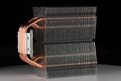Modern computer processor cooler or radiator or heat sink. Close up Stock Image