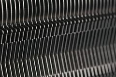 Modern computer processor cooler or radiator or heat sink. Close up Royalty Free Stock Photos