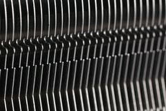 Modern computer processor cooler or radiator or heat sink. Close up Royalty Free Stock Images