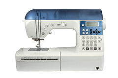 Modern computer sewing machine royalty free stock image