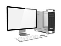 Modern Computer Station. Royalty Free Stock Photos