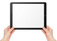 Modern computer tablet with hands Stock Photo