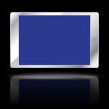Modern computer tablet. Isolated on black background. Vector illustration Stock Images