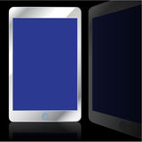 Modern computer tablet. Isolated on black background. Vector illustration Royalty Free Stock Photography