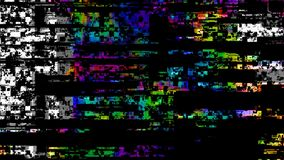 Modern computer technology failure digital databending noise glitch overlay or transition