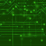 Modern Computer Technology Green Background. Royalty Free Stock Photo