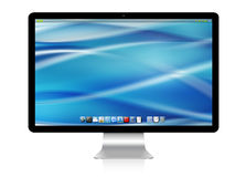 Modern computer on white background 3D rendering Stock Images