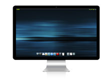 Modern computer on white background 3D rendering Royalty Free Stock Images