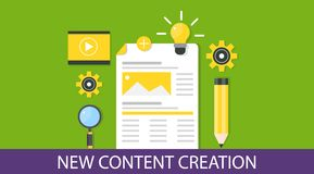 Content creation and content development concept. Royalty Free Stock Photography